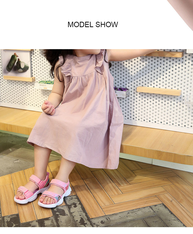 peso brilhante impressão bebê meninas sapatos confortáveis verão crianças sandália