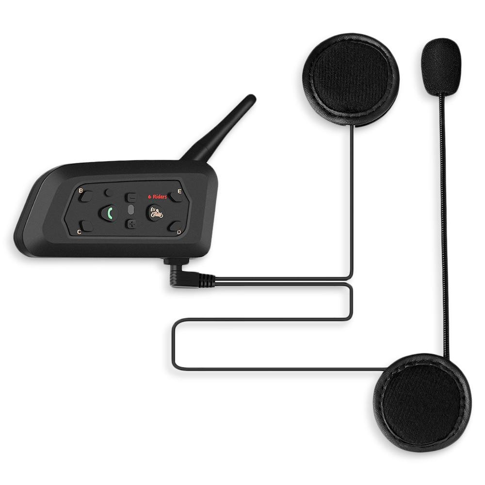 Vnetphone Motorcycle Helmet Headset Handheld Transceiver Bluetooth IP65 1200m 120h 2-way Talk Walkie-talkie For Motor Intercom