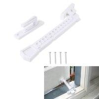 1 set ABS Venster Brace Met Schroeven Window Sash Lock Kind Veiligheid Venster Vergrendeling Venster Verblijf Vangen