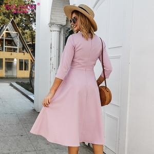 Image 5 - S。味女性 a ラインドレスエレガントな膝ノースリーブカジュアルドレス女性の春夏パーティー vestidos