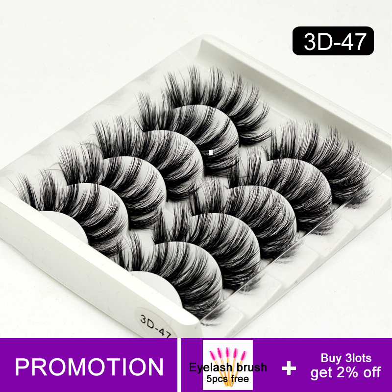 Cilios Mink Eyelashes 5 Pairs False Lash Extension Natural Wispy Lashes Make Up Tools For Beauty Eyelash Extensions Suppliers