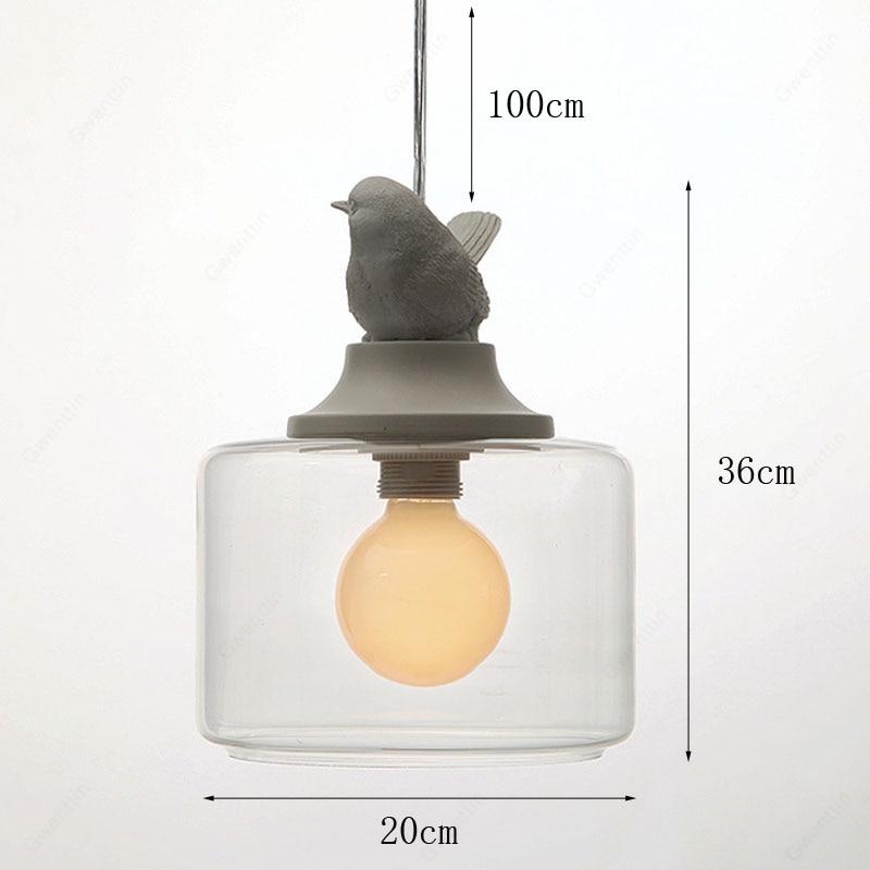 Nordic Pássaro Luz Pingente Moderno Lâmpada De