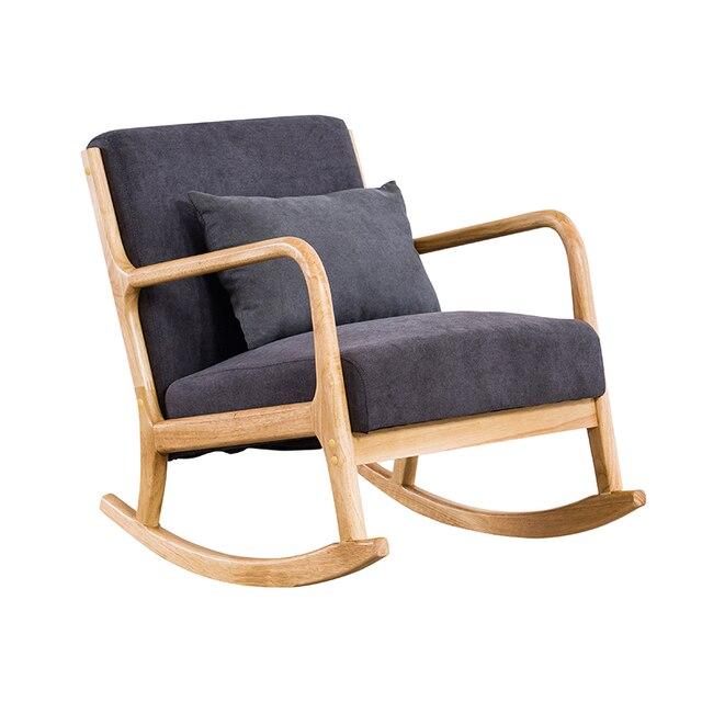 Hardwood Rocking Armchair  5