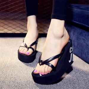 Image 5 - XMISTUOแฟชั่นผู้หญิงFlip Flopsฤดูร้อนหญิงชายหาดWedgesกันน้ำ 11 ซม.รองเท้าส้นสูงรองเท้าแตะ 4 สี 7041