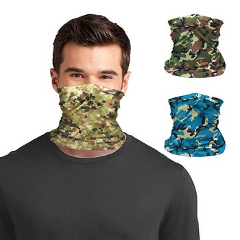 Men Headwear Outdoor Sport Camouflage Tube Scarf Fishing Cycling Tactical Hiking Elastic Cover Neck Gaiter Warmer Face Headband image