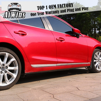 Aiwins 바디 트림 For Mazda 3 Axela 2014-2017 세단 카 사이드 도어 바디 몰딩 트림 커버 라인 가니쉬 프로텍터 액세서리