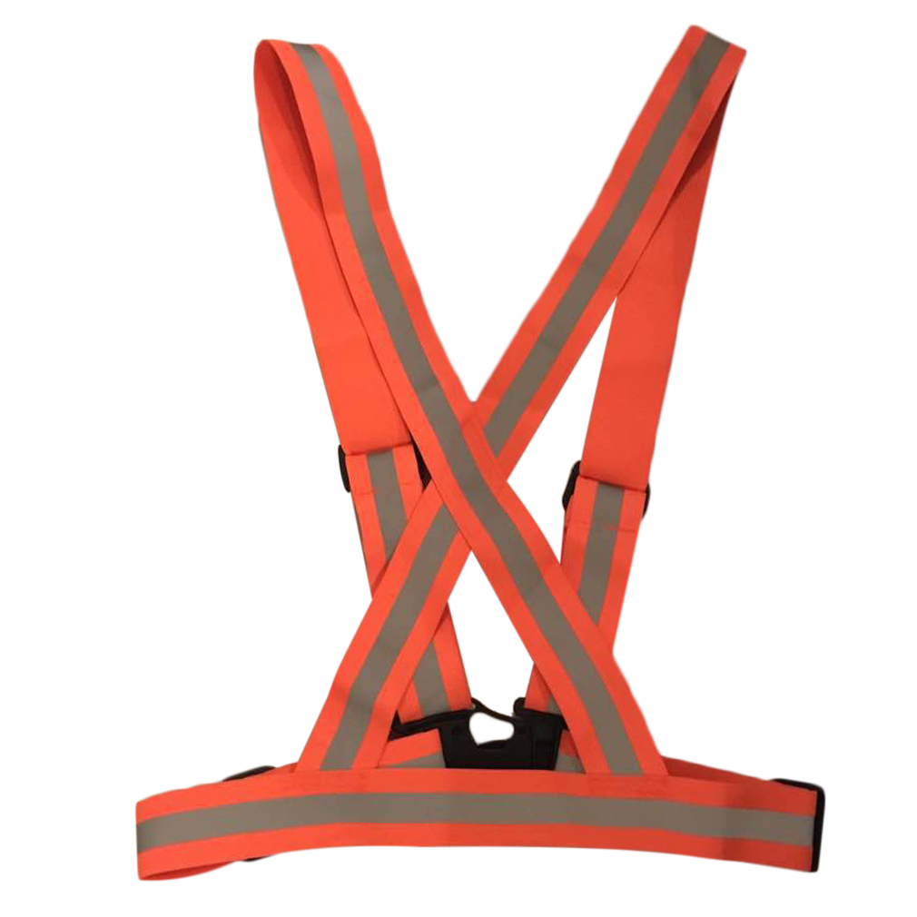 High Visibility Adjustable & Elastic Lightweight Polyester Reflective Vest Breathable For Running Jogging Walking Cycling
