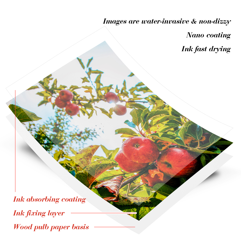 Photo-Paper Inkjet-Printer Glossy Waterproof 4R 100sheets for 4x6 6inch Studio 230/250g