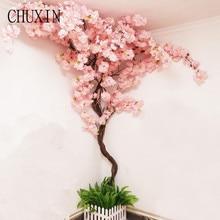 1Pc Kirschblüte Baum Künstliche Blumen Home Hotel Dekoration Desktop Ecke Layout DIY Wand Dekoration Kirschblüte