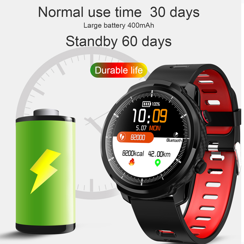 L3 Waterproof Smart Watch with Round Screen Heart Rate Pedometer and Call Message Reminder Smart Activity Tracker for Women Men 4