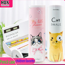 NBX genuine innovative stationery box students love multifunctional cute cartoon cat and penguin pencil case
