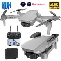 Mini Dron E88 1080P WiFi FPV HD 4K Cámara Dual RC, Dron cuadricóptero plegable con modo de retención de altura
