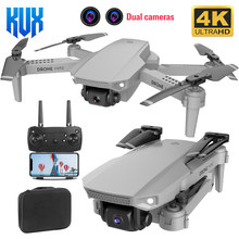 E88 mini drone 1080p wifi fpv hd 4k câmera dupla rc drones altura modo de espera dobrável quadrotor aeronaves helicóptero brinquedo presentes