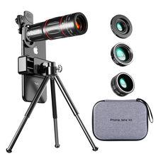 Tongdaytech lente telescópica, lente de câmera 28x hd, zoom macro, para smartphone iphone, samsung