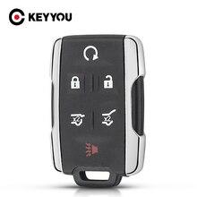 KEYYOU 3/4/5/6 Tasten Fernbedienung Fall Für Chevrolet Tahoe Suburban Sierra Silverado Smart Key Shell Gehäuse Für GMC Yukon XL