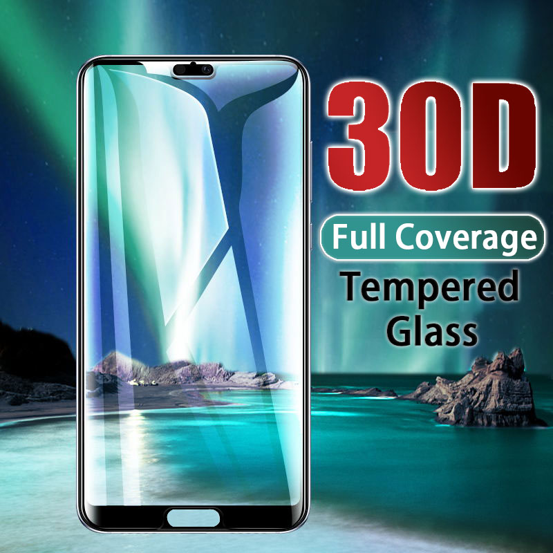 HD Tempered Full Cover Glass For Huawei P20 P30 Lite Pro Screen Protector Protective For Huawei