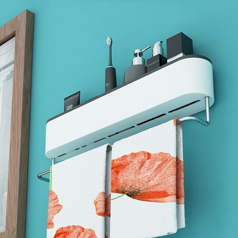 ONEUP Wall Bathroom Shelf Shampoo Cosmetic Shower Shelf Drainage Storage Rack Home WC Bathroom Accessories Towel Storage Rack 4
