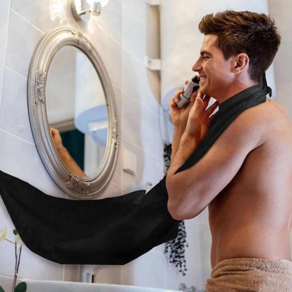 Mężczyzn do golenia włosów do przycinania włosów Catcher fartuch do golenia uchwyt z przyssawką łazienka prezent dla człowieka do cięcia włosów tkaniny