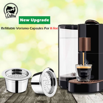 Upgrade K-fee Refillable Verismo Capsule For ALDI Expressi Refillable Coffee Capsule Pod Filters Stainless Steel Cafeteira image