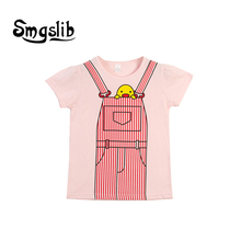 Smgslib kids clothes T-shirts Kids Print T Shirt For Children Summer T-shirt Cotton Tops Clothing clothes graphic t shirts floral and graphic print buttons henley t shirt
