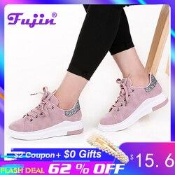 Fujin marca 2019 outono sapatos femininos tênis outono macio confortável sapatos casuais moda senhora sapatos femininos para as mulheres