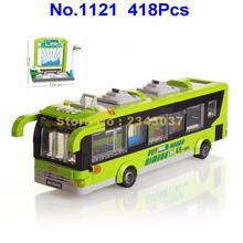 418pcs city bus station enlighten building block 4  Toy