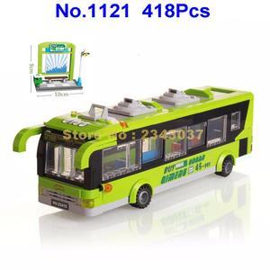 Image 1 -  418pcs city bus station enlighten building block 4  Toy