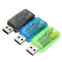 Tarjeta de sonido de Audio externa USB 2,0, 5,1 canales, micrófono, altavoz de grabación, Adaptador de Audio, Conector de auriculares