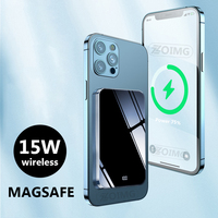 Banco de energía de 10000mAh para teléfono móvil, batería externa inalámbrica magnética para magsafe 15W, cargador rápido para iphone 12 y xiaomi