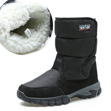 Mannen laarzen 2019 winter schoenen dikker bont antislip waterdichte snowboots mannen winter laarzen big size 40- 48(China)