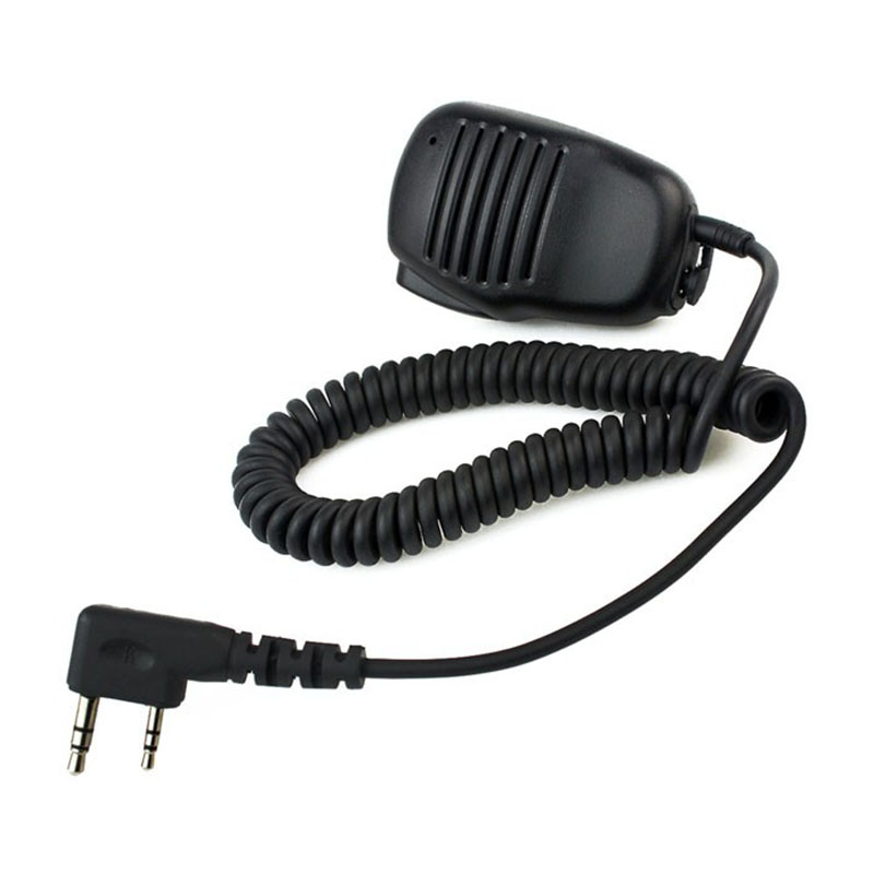 2 Pin Mini PTT Speaker MIC For BAOFENG Kenwood Walkie Talkie BAOFENG UV-5R UV-82 BF-888S Two Way Radio