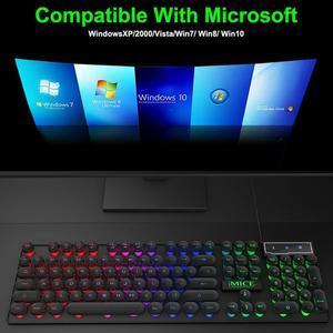 Image 2 - IMICE AK 800 clavier mécanique USB filaire sentiment 104 touches rvb rétro éclairé jeu Silicone claviers pour ordinateur portable PC de bureau