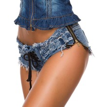 Women Sexy Super Shorts Jeans Ripped Mini Micro Hot Summer Club Girls Booty Lace Up Ladies Plus Size short feminino