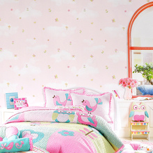 High quality fresh rural small floral wall paper home bedroom living room non-woven 3d warm girl children's room wallpaper цена 2017