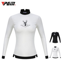 T-Shirt Sportswear Golf-Clothes Women Ladies PGM Slim Tops Team-Uniform Long-Sleeve Outdoor