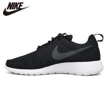 Original NIKE ROSHE RUN Mens Black Running Outdoor Sports Shoes