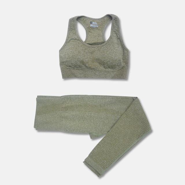 2 3 5PCS Seamless Women Yoga Set Workout Sportswear Gym Clothing Fitness Long Sleeve Crop Top High Waist Leggings Short Suits