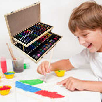 108PC Art Painting Watercolor Pen Set Pencil Crayon Eraser Pencil Sharpener Marker Pen Set Kindergarten Supplies Children's Gift - DISCOUNT ITEM  34% OFF All Category