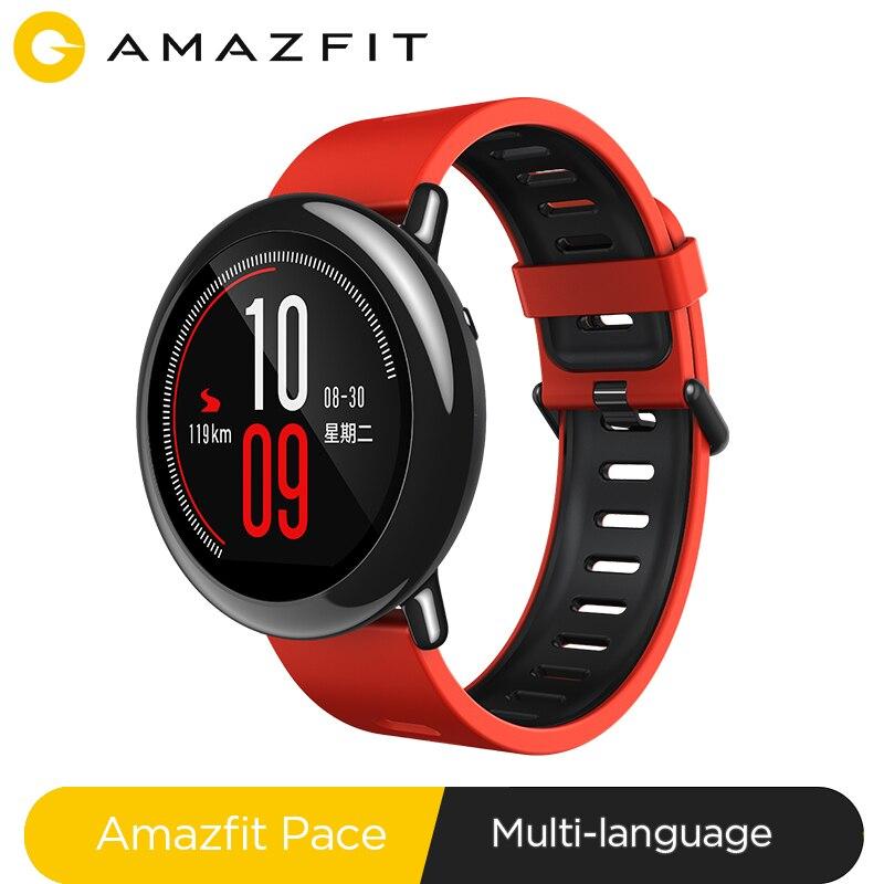 Huami amazfit ritmo smartwatch amazfit relógio inteligente bluetooth informações gps empurrar monitor de freqüência cardíaca inteligente