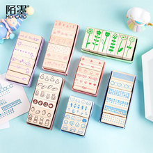 5sets/lot Mini Kingdom Series DIY Crafts Wooden Rubber Stamp for Scrapbooking Stationery Painting Cards Decor