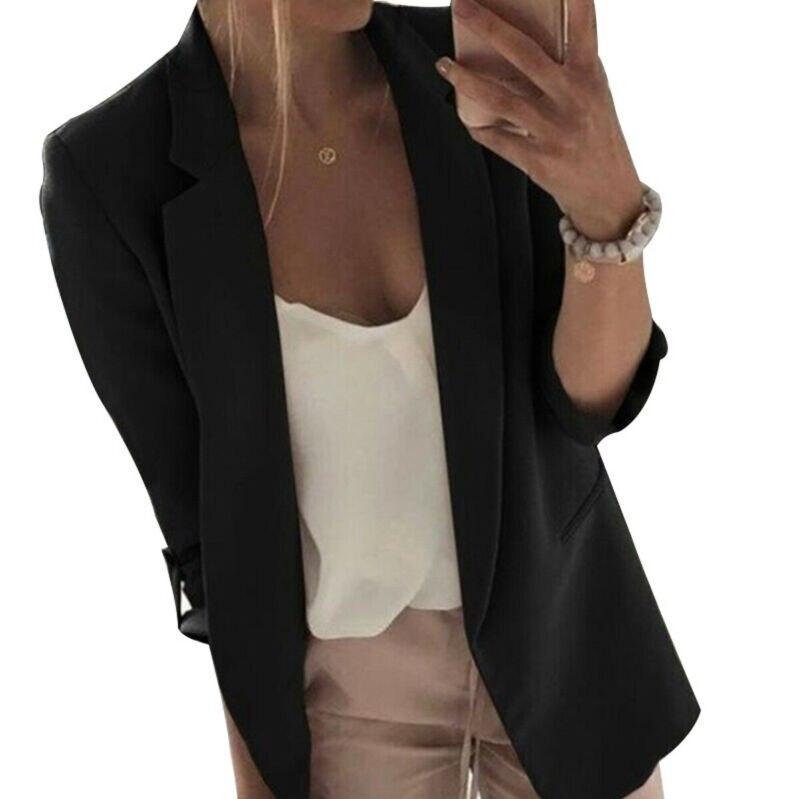 Women Lady Long Sleeve Slim OL Blazer Suit Coat Work Jacket Formal Suit Plus M-3XL