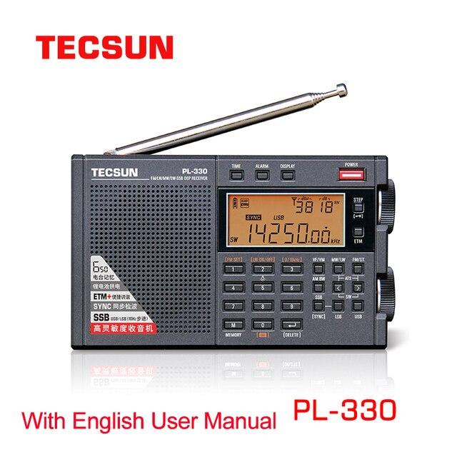 2021 Tecsun PL 330 FM Radio portable LW/SW/MW Single Side Band All Band Radio Receiver with English Manual Newest Firmware 3305