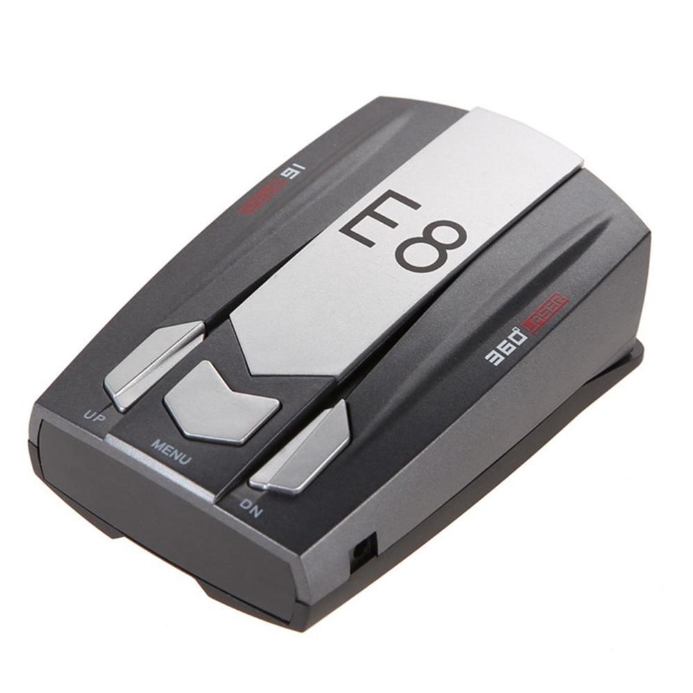 E8 светодиодный GPS лазерный Анти радар детектор автомобильной электроники лучшие антирадары скорость авто градусов обнаружения X K Ka Ct La 12V DC ...