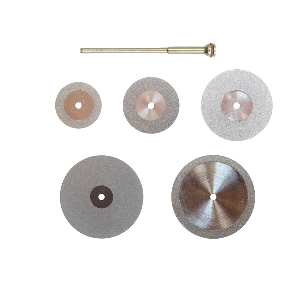 Dental Ultra-thin 0.15mm Double Sided Diamond Cutting Disc for separating polishing ceramic crown plaster or jade with mandrels