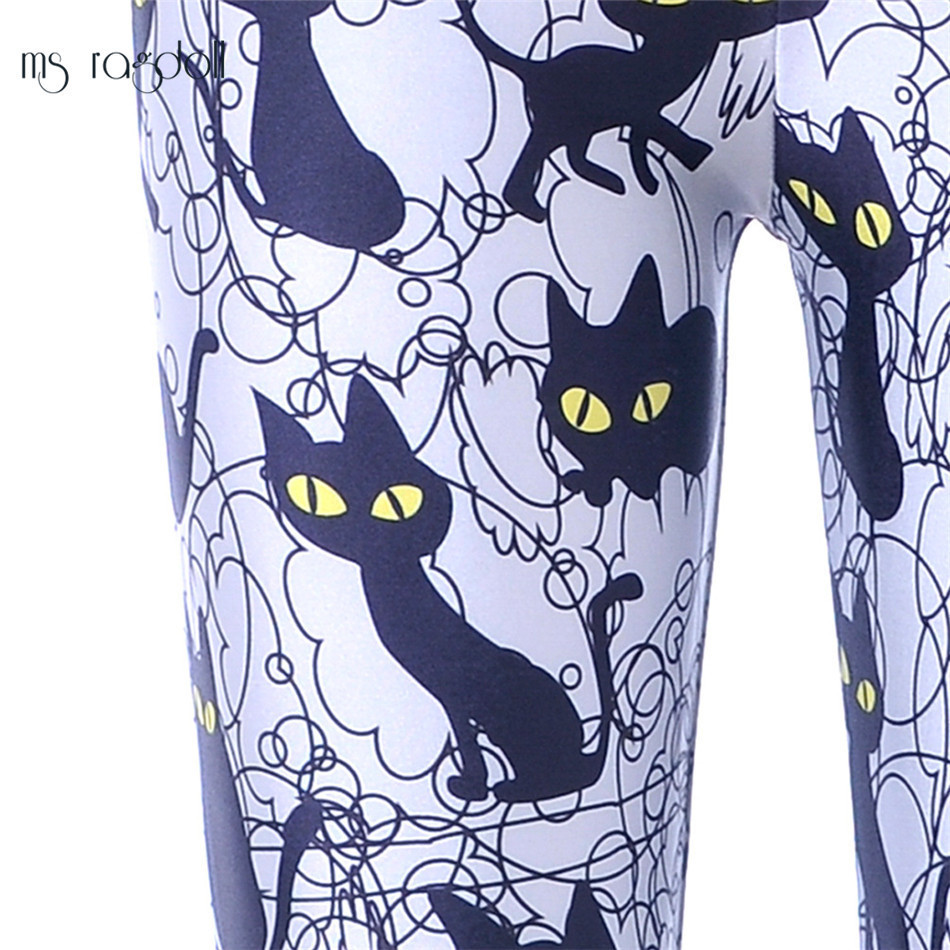 Ms Ragdoll Women Seamless Leggings Cat Printing Pants Gym Workout Running Fitness Slim Trousers Mujer Sport Pants Jogging Femme