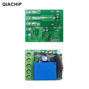 Image 3 - Switch com controle remoto universal QIACHIP, módulo de receptor e relé 1CH de 12V DC, transmissor RF 433Mhz