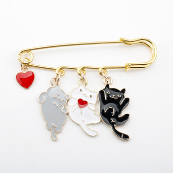Lovely Cat Enamel Pin Badge Mickey Pendant Clothes Shirt Jeans Brooch Charm Pins Accessory Metal Brooches for Women image