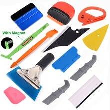 Ehdis Auto Accessoires Carbon Fiber Vinyl Sticker Decals Film Wrap Auto Tool Set Venster Wikkelen Kit Magneet Zuigmond Scheermes Schraper