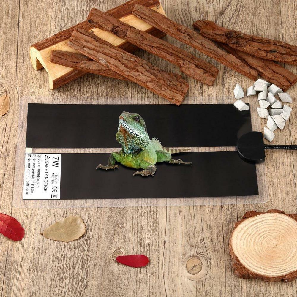 Heated Pet Mat Heating Warm Pad Adjustable Temperature Controller Incubator Terrarium Reptiles Supplies 5W/7W/45W Climbing Plant