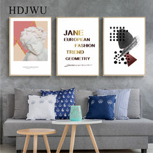 Modern Art Home Decor Canvas Painting Wall Picture Abstract Geometry Gypsum Printing Poster for Living Room  DJ670
